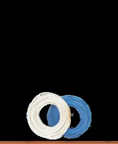 10m Litze 2x0,08mm² Kabel Zwillingslitze Doppellitze Schaltlitze Cable Wire grau