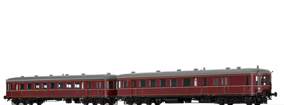 Diesel Railcar BR VT 60.5 and Trailer BR VS 145 DB