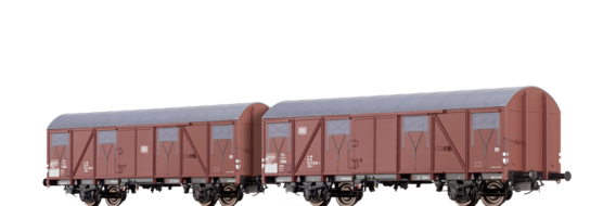 Covered Freight Car Gbs 245 DB, set of 2