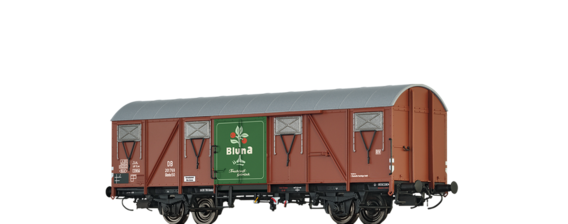 "Covered Freight Car Glmhs 50 "" Bluna"" DB"