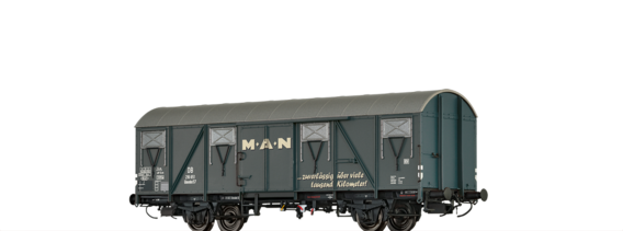Covered Freight Car Glmmhs 57