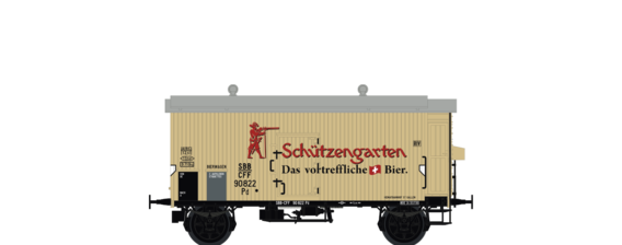 "Covered Freight Car K2 Pd ""Schützengarten"" SBB"
