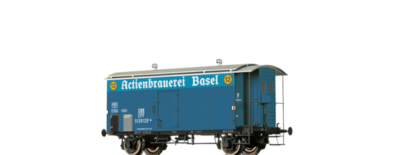 "Covered Freight Car K2 ""Actienbrauerei Basel"" SBB"