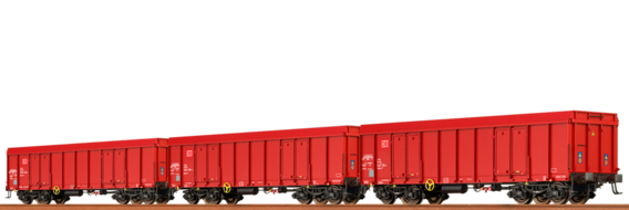 Open Freight Cars Ealos DB AG, set of 3