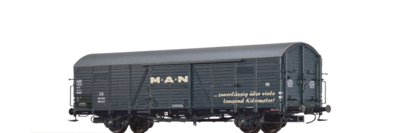 "Covered Freight Car Gltrhs 23 ""MAN"" DB"