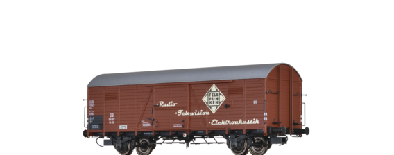 "Covered Freight Car Glr 22 ""Telefunken"" DB"