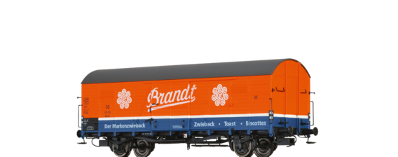 "Covered Freight Car Glr 22 ""Brandt"" DB"