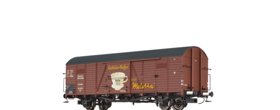 "Covered Freight Car Glr ""Melitta"" DRG"
