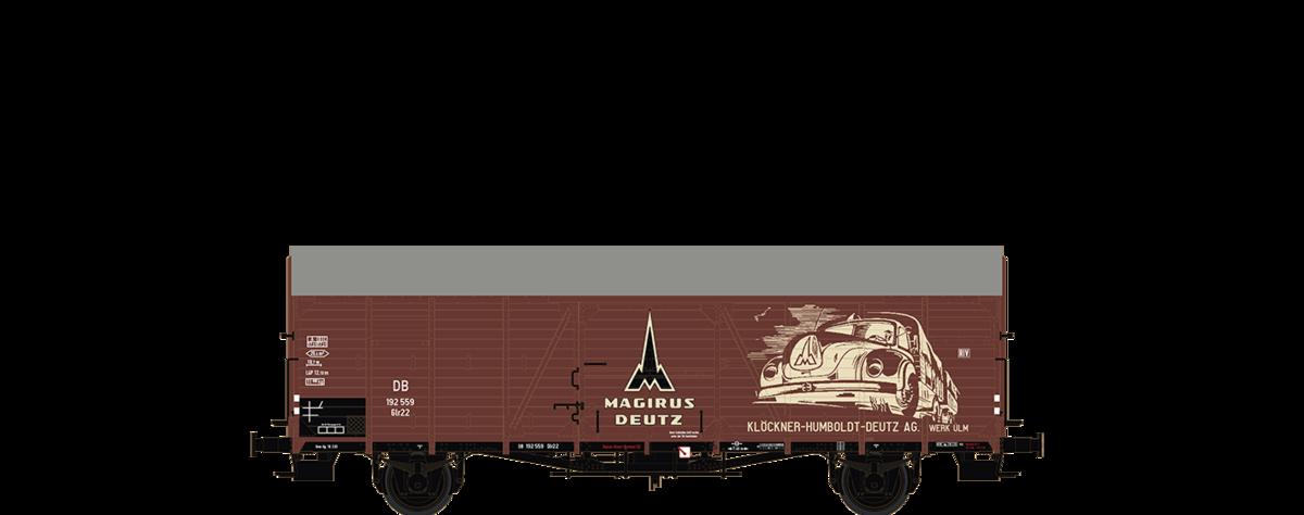 III Magirus Deutz DC BRAWA 48744 h0 carro merci GLR 22 DB