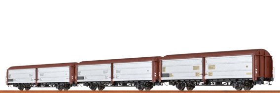 Sliding Wall Cars Hbis297 and Hbis299 ÖBB, set of 3