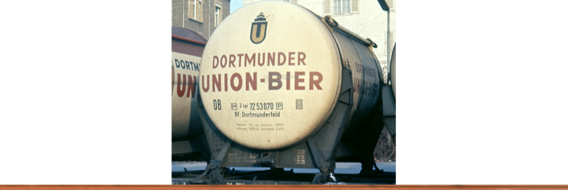 "Container Car Btmms 58 DB, with Ddikr 621 ""Dortmunder Union Bier"""