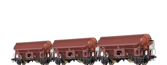 Covered Freight Cars Udgs 69 Ktmmvs DB, set of 3