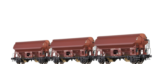 Covered Freight Cars Tdgs 930 DB, set of 3