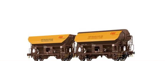 Covered Freight Car Ktmmvs 69 and open freight car Otmm 70 ÖBB, set of 2