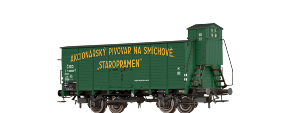 "Covered Freight Car L ""Staropramen"" CSD"