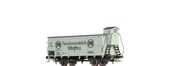 "Covered Freight Car Kassel ""Fleischwarenfabrik Oldenburg"" DRG"