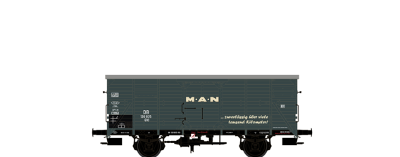 "Covered Freight Car G10 ""MAN"" DB"