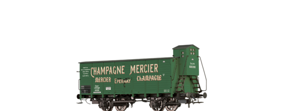 "Covered Freight Car ""Champagne Mercier"" Elsaß Lothringen"
