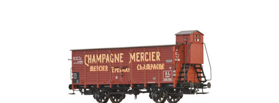 "Covered Freight Car Kuwf ""Champagne Mercier "" A.L."