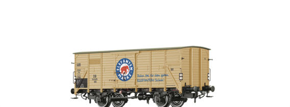 "Covered Freight Car G10 ""Elefanten Schuhe"" DB"