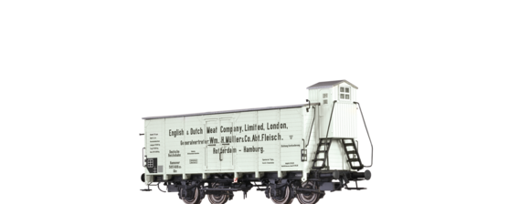 "Covered Freight Car Gkn ""English & Dutch Meat Company"" DRG"