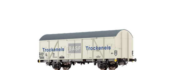 "Covered Freight Car Gbs-uv 253 ""BASF Trocken Eis"" DB"