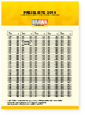 BRAWA Recommended Retail Price List 2019 [German]