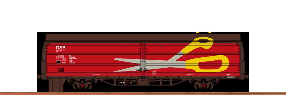 Schiebewandwagen Hbis 299 der DSB